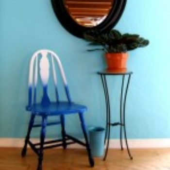 diy project: shades-of-blue ombre chair