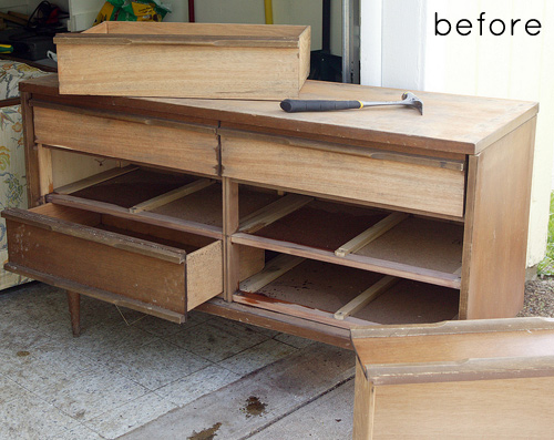 Lovely before & after: reclaimed wood dresser – Design*Sponge FN81