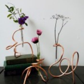 diy project: sculptural copper coil vases