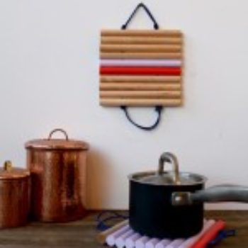 diy project: leather & wood trivets
