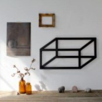 diy project: dimensional geometric wall art