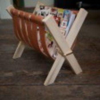 diy project: sling magazine rack