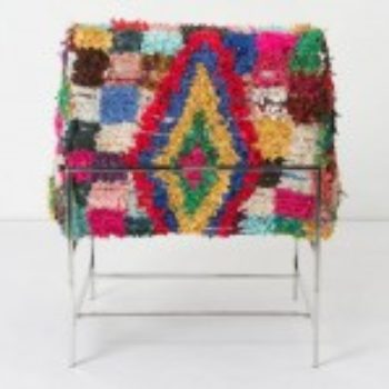 vintage moroccan rug chair