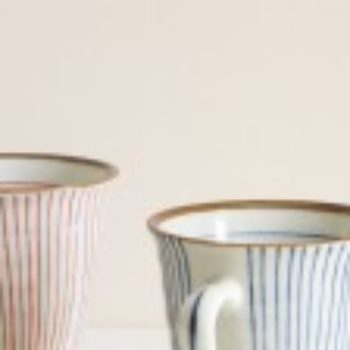 striped teacups