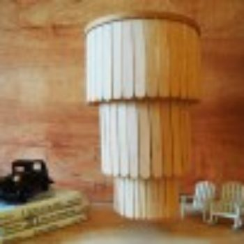 DIY Project: Popsicle Stick Chandelier