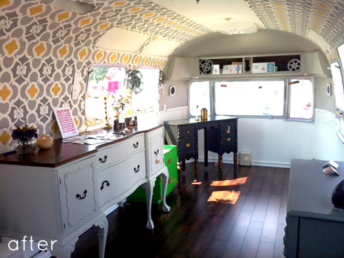 Before Amp After Airstream Trailer Makeover Design Sponge