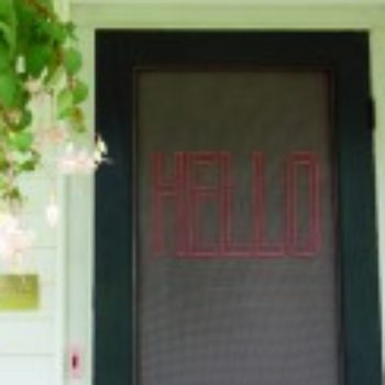 DIY Project: Stitched Screen Door by Abbey Hendrickson