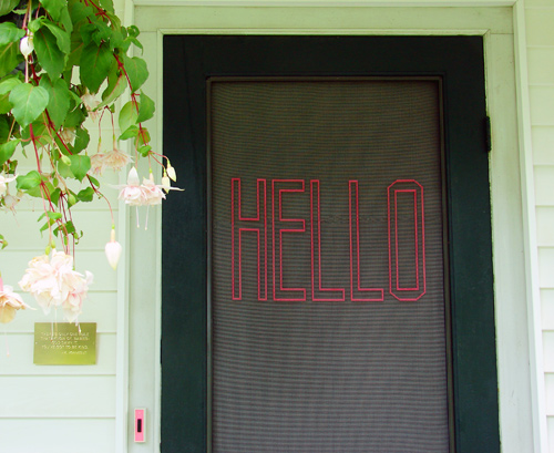 Diy Project Stitched Screen Door By Abbey Hendrickson