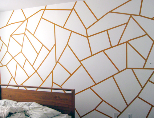 Design Of Wall Painting: DIY Project: Geometric Painted Wall