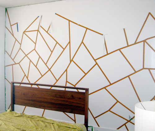 DIY Project: Geometric Painted Wall