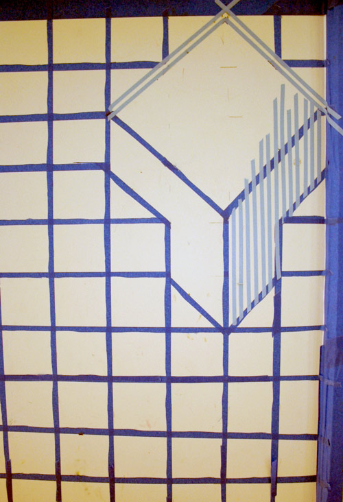 Diy Project 3d Cube Painted Wall By Donna Yu Design Sponge
