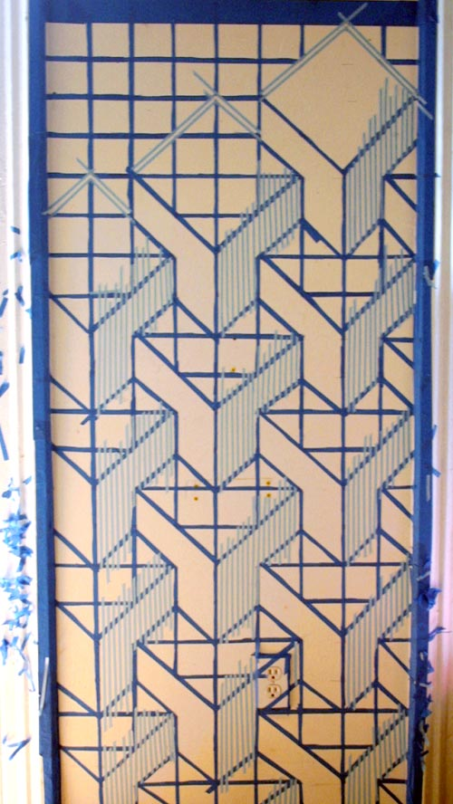 Wall Design Painting 3d : Diy project d cube painted wall by donna yu design sponge