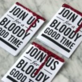 Entertaining: Bones + Blood Halloween Invites