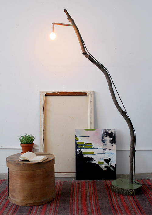 Diy Project Copper Branch Floor Lamp Design Sponge