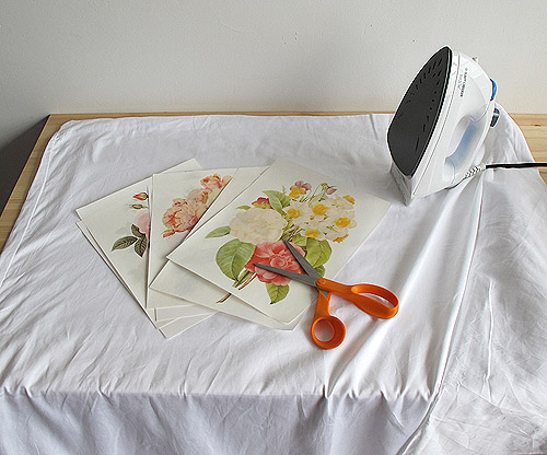 Dorm Diy Iron Transfer Floral Duvet Cover Design Sponge
