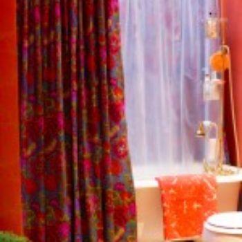 upholstery basics: grommet-top shower curtain