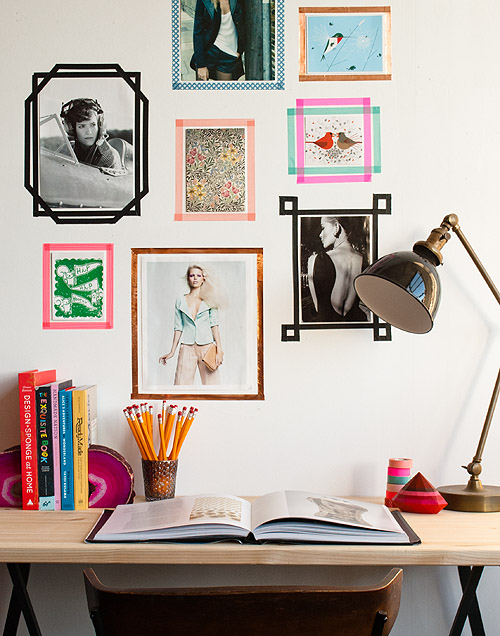 Tape Picture Frames | DIY Room Decor Ideas for Crafters (Who Are Also Renters)