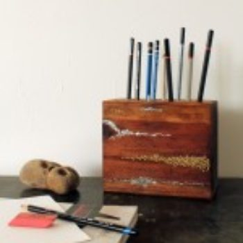 DIY Project: Embellished Wood Pencil Block