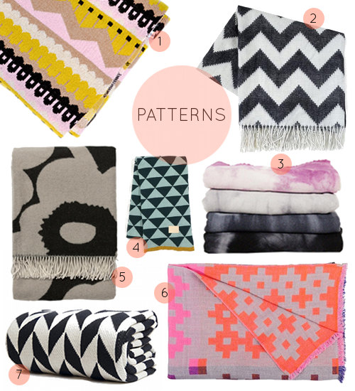 Current Obsessions Cozy Blankets Throws DesignSponge Simple Patterned Blanket