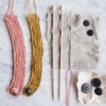 DIY Project: Super Simple Knitted Bracelets