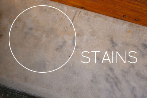 photo of a stain on marble