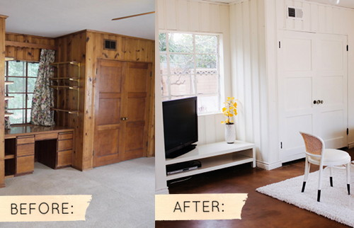 Before After Sarahs Real World Makeover Designsponge