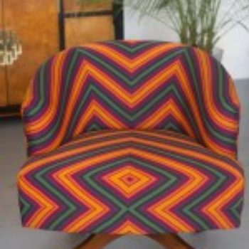 upholstery inspiration: geo maze barrel chair
