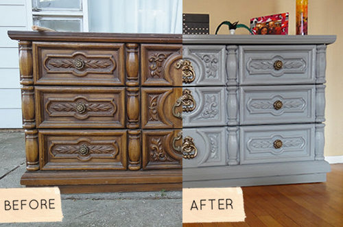 This Before After Is A Dresser Makeover With Little Surprise On The Surface It S Simple Paint And Hardware Switch Which Looks Nice Clean
