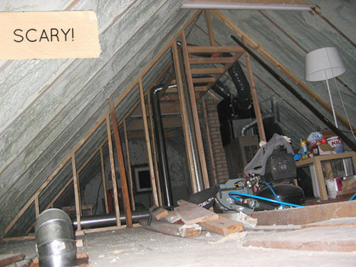 Before After Minneapolis Attic Makeover DesignSponge