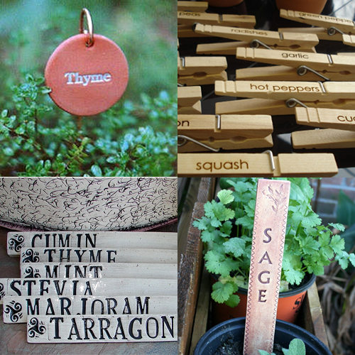 Image Above Clockwise From Top Left Round Herb Markers 21 Set Of 20 Plant Clips 10 28 For 6 Clay Garden 15