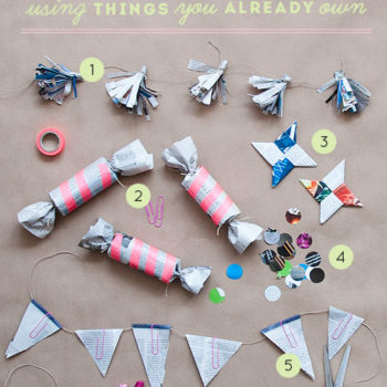 Entertaining: Recycled Party Decorations