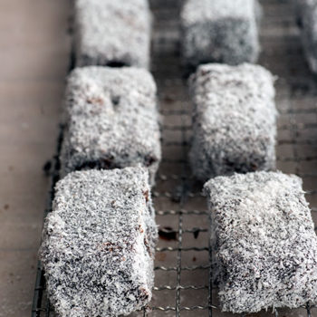 in the kitchen with felicita sala's lamingtons