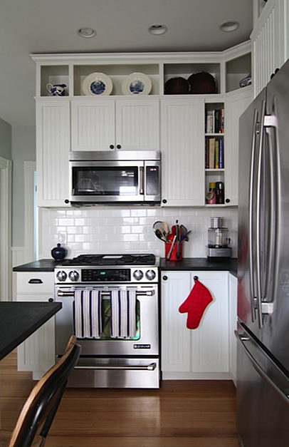 What to do with the space above your kitchen cabinets what What to do with space above cabinets