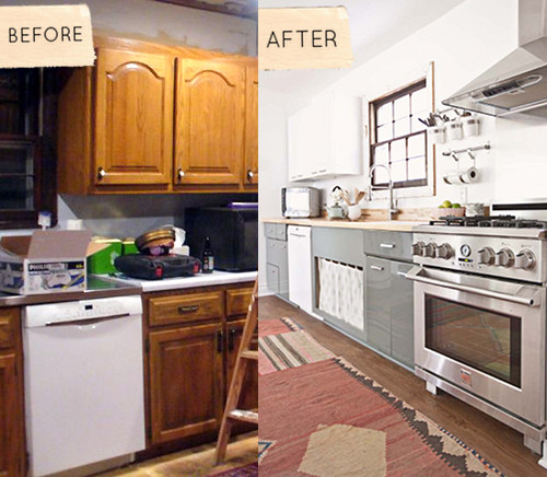 Apartment Kitchen Makeover: Before & After: Sarah's Kitchen + Bedroom Renovation