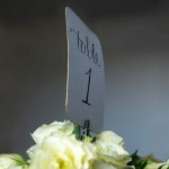 DIY Gold-Edged Wedding Table Numbers