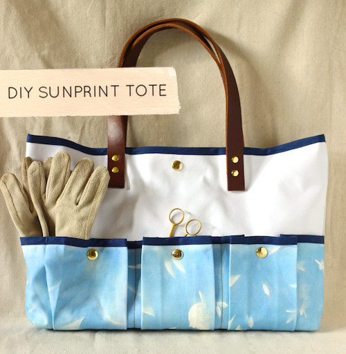 Diy Sunprint Tote Design Sponge