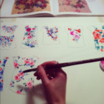 Hand Painted Florals for Textiles