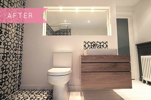 Before Amp After A Bold Black Amp White Bathroom