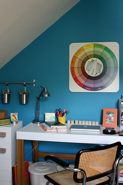 Image Above My Office Pictured Here Also Doubles As An Arts And Crafts Room For The S Walls Are Laguna Blue By Benjamin Moore