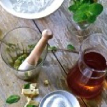 Drinks: Bellocq's Iced Majorelle Mint with Muddled Ginger
