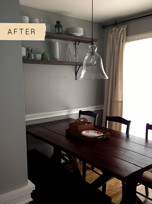 Before after a beautiful dining room on a budget designsponge feliciaba4 aloadofball Choice Image