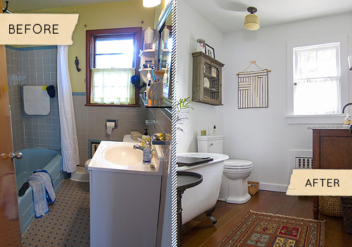 Before After A Mismatched S Bathroom Gets Simplified Design - 70s bathroom remodel