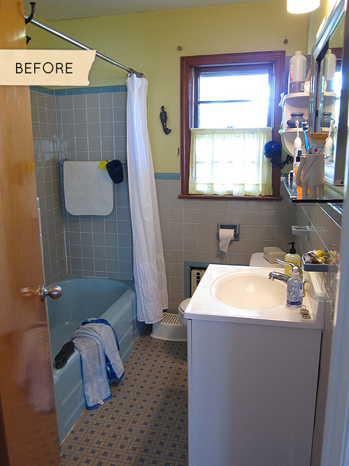 Before After A Mismatched S Bathroom Gets Simplified Design - 1950s bathroom remodel
