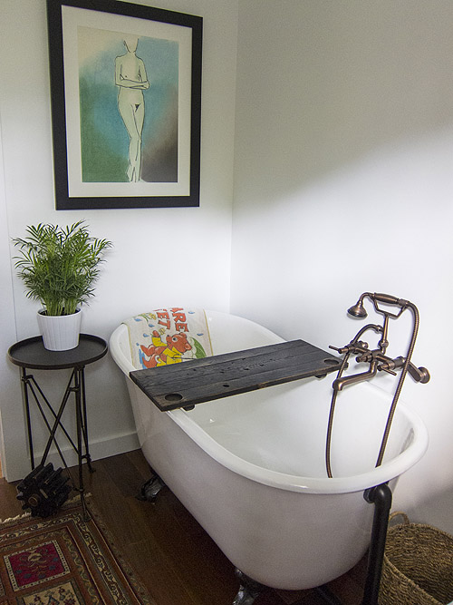 Before & After: A Mismatched 1950s Bathroom Gets Simplified – Design on updated wallpaper designs, updated small kitchens, updated master bedroom designs, updated shower designs, updated laundry room designs, updated office designs,