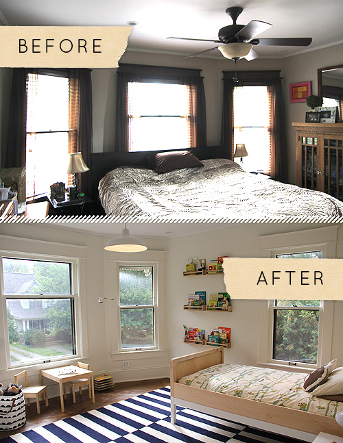 Before After A Sophisticated Modern Take On A Boy S Bedroom Design Sponge