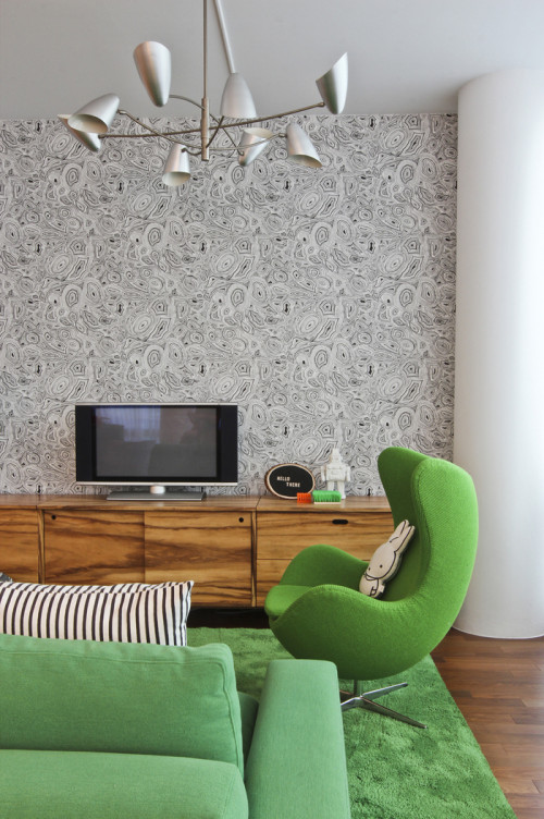 A Modern Nyc Apartment That S Not Afraid Of Color Design Sponge