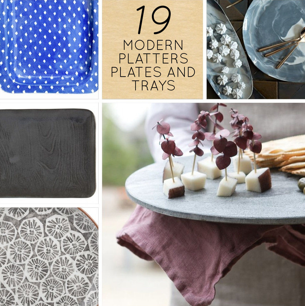 19 Modern Serving Platters Plates And