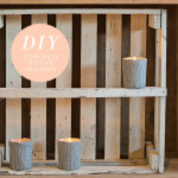 Wedding DIY: Concrete Votives