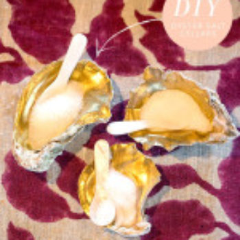 Wedding DIY: Oyster Shell Salt Cellars