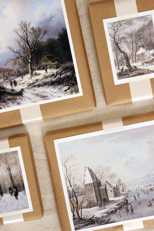 DIY Winter Scene Painting Gift Toppers 2